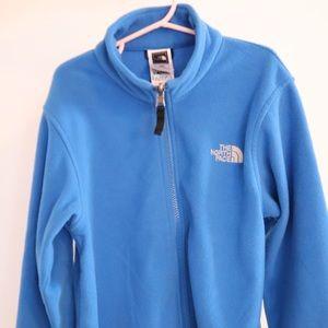 Boys North face Fleece Zip-Up Sweater, Size 10-12